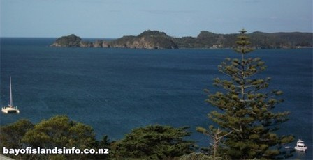 Looking from Russell to Motuarohia Island, Bay Of Islands