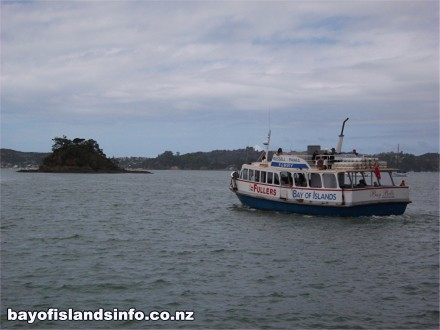Fullers Passenger Ferry heading from Paihia to Russell