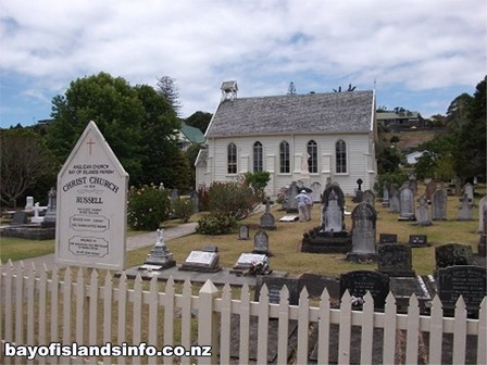 Christ Church, Russell, the first and oldest church in New Zealand