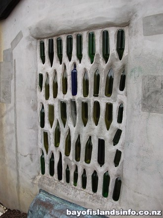 Wine bottle windows. Municipal Toilets, Great design and sculpture
