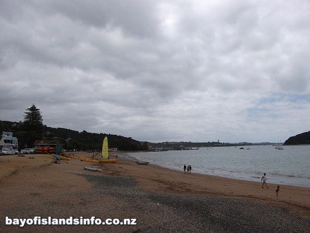 Paihia Beach, Bay Of Islands with yachts for hire