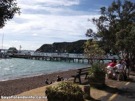 Waterfront overlooking the wharf at Russell, Bay Of Islands