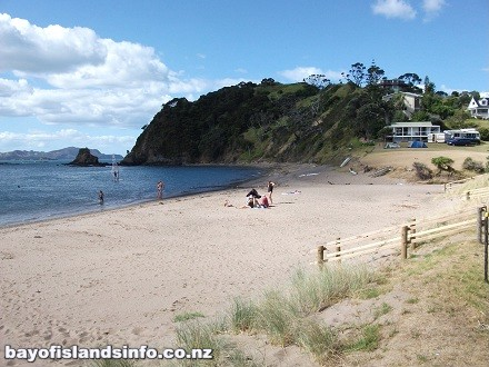 Tapeka Point Beach, Bay Of Islands, on Sunny Day