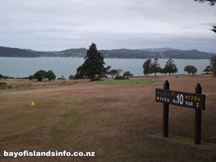 Bay Of Islands Golf Course with views of the bay. Top of the 10th Hole which is a Par 3